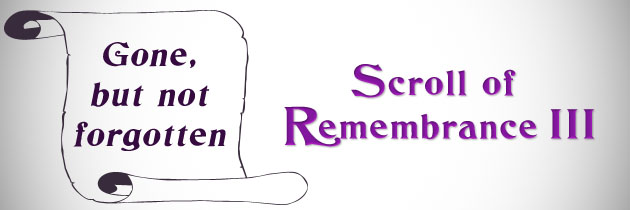 Scroll of Remembrance III (Current one – add names here)